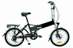 CF-TDN06Z  folding bike with battery inside the frame