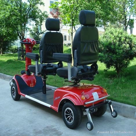 Mobility scooter with two seat 2