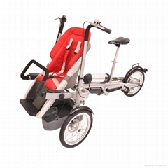 Easy folding electric baby stroller