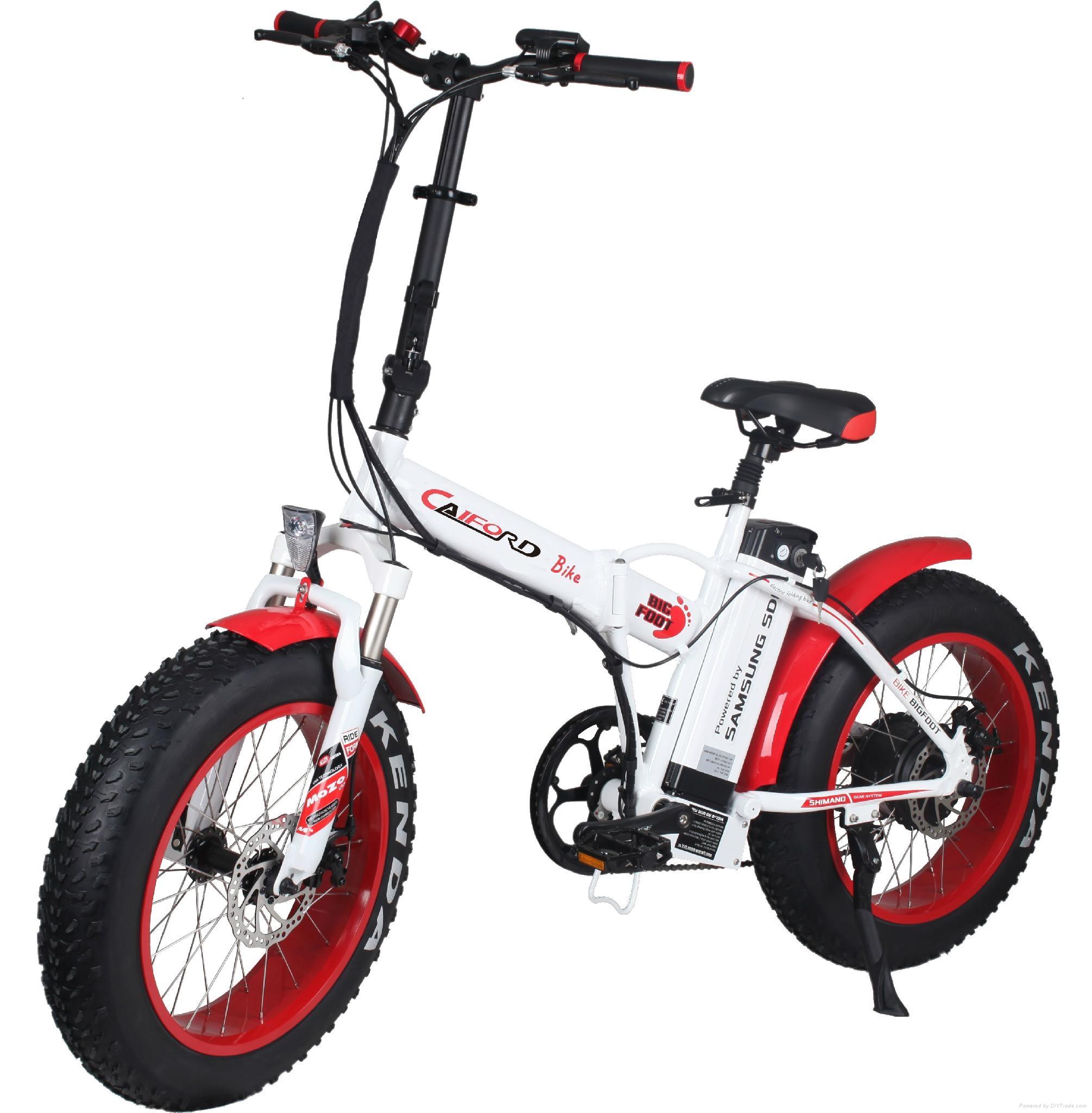 CF-TDN01Z with fat tyre snow folding e-bike (48V350W) 1
