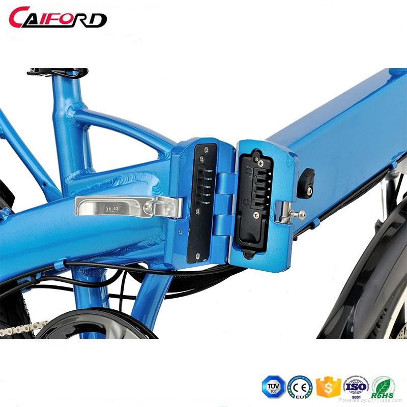 CF-TDN08Z 20inch coyote connect folding electric bike bycycle inner battery  3