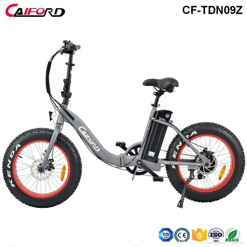 CF-TDN09Z snow beach electric fat bike folding electric bike (36V350W) 1
