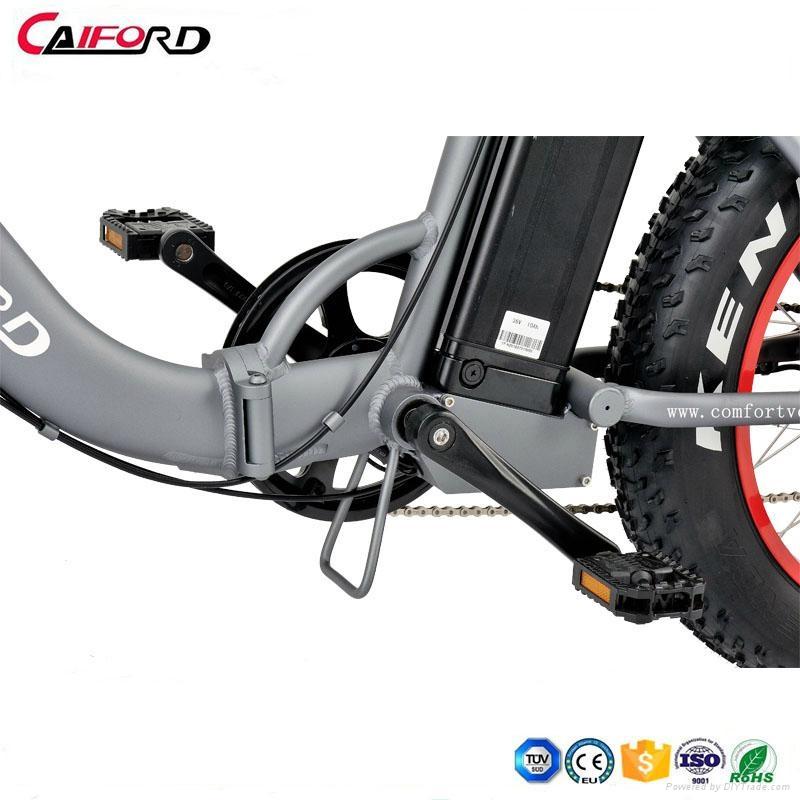 CF-TDN09Z snow beach electric fat bike folding electric bike (36V350W) 3