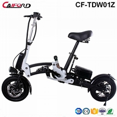 12 inch 36V 9Ah One Second Folding Pedal Assisted Electric Bike