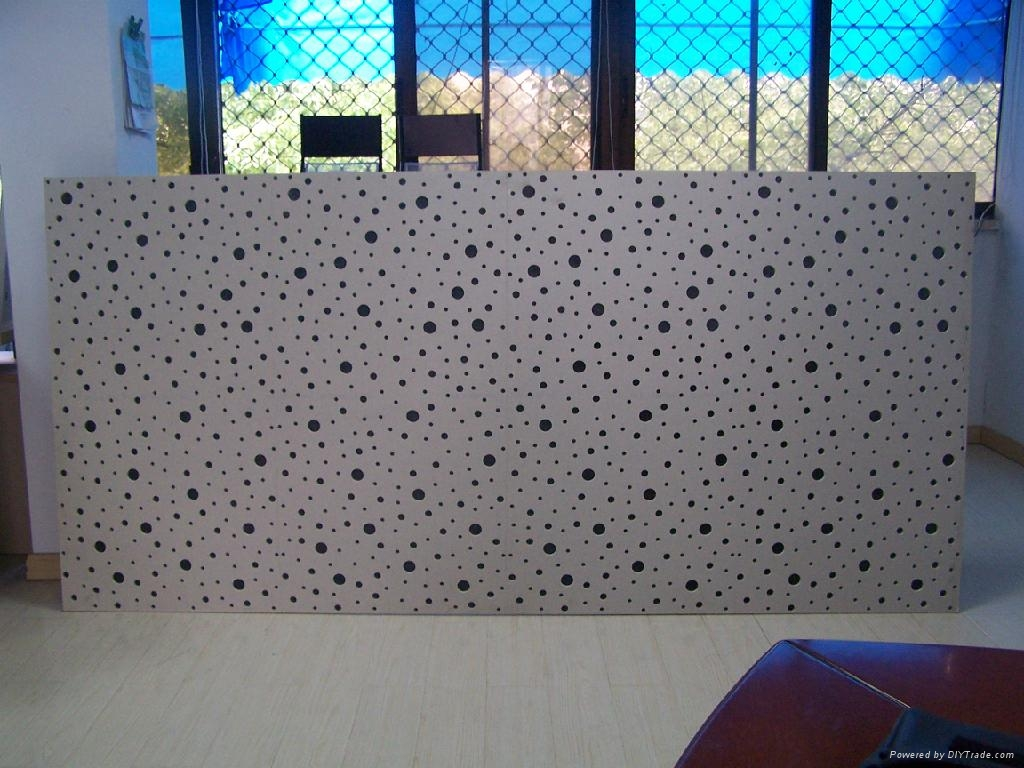 Perforated gypsum acoustic panel wyc wellyoung