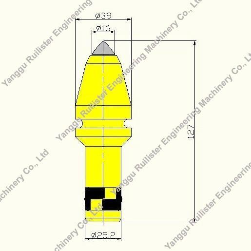 Cutting Tools U40HD_Piling Tools_Bullet Teeth_Auger Bits_Rock Drilling Bits 5