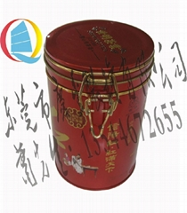 馬口鐵圓形密封圈鐵線茶葉包裝罐