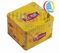 Tinplate lipton tea bags packaging