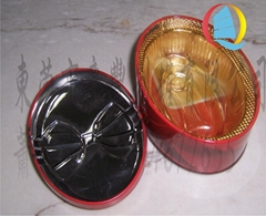 橢圓形馬口鐵專版中秋月餅包裝鐵盒