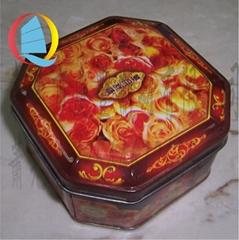 马口铁专用八角单个伍仁月饼罐