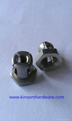 Undercut anchor for expension bolt and nut