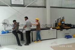 India client buy transformer core cutting machine,training