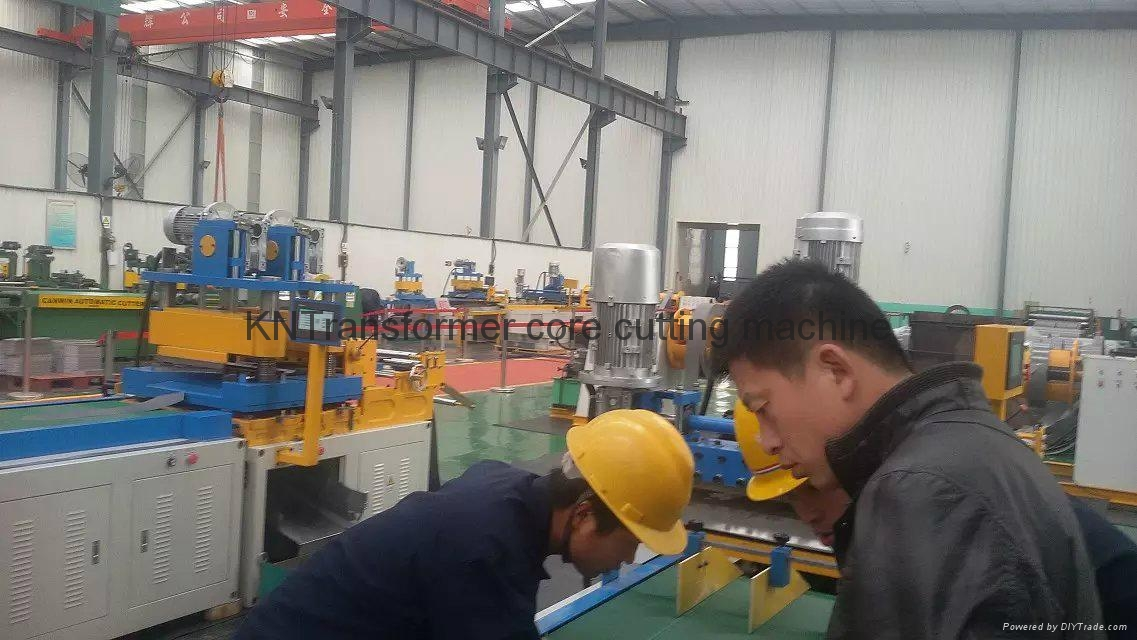 Mitred core cutting to length machine line