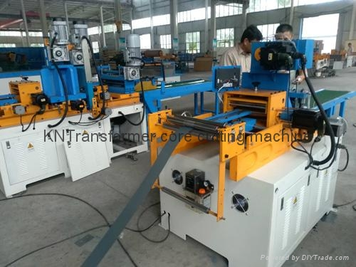 Silicon steel transformer core cutting machine
