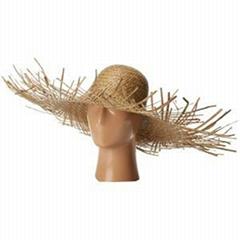 Frayed Edge Straw Sun Hat