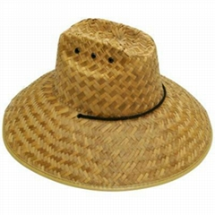 Vintage Bamboo Conical Hat - Asian Rice Paddy Coolie Hat - Oriental Bamboo Farme