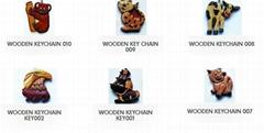 WOOD KEYCHAINS - WOOD ORNAMENT