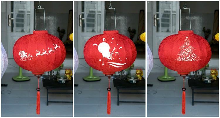 bamboo lantern - outdoor silk lantern 1