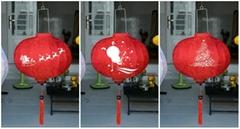 bamboo lantern - outdoor silk lantern