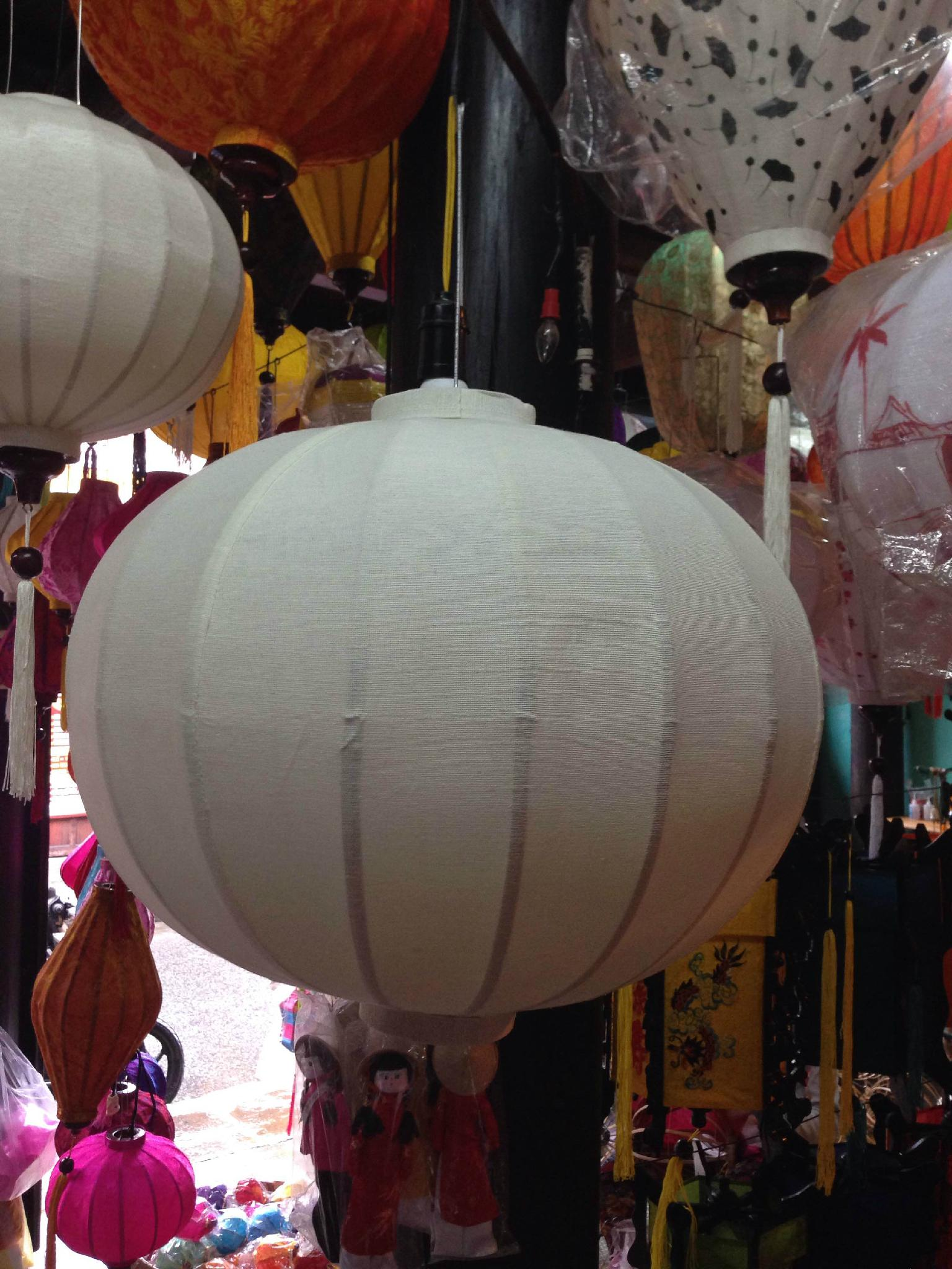 bamboo lantern - outdoor silk lantern 3