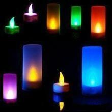 电池供电的LED闪烁的蜡烛