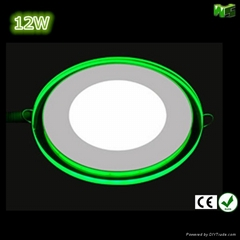 12W Round led panel light with blue side