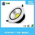 10W white COB down light high lumen with