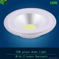 10W round glass COB Downlight