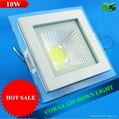 10W SQUARE glass COB down light