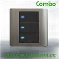 decorative switch 3Gang 2way wall switch