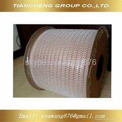 Nylon coated double loop wire