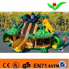 Inflatable 3 lane slide amusement park