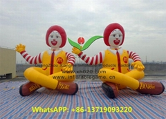 New double inflatable McDonald's cartoon characters balloons