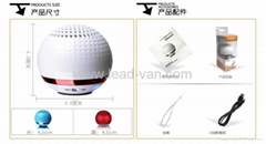 GolfBall Bluetooth Speaker With Hands Free Call Function