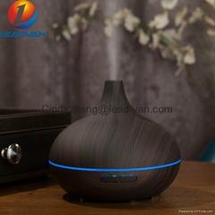 300ml Cool Mist Humidifier Dark Wood Ultrasonic Aroma Essential Oil Diffuser