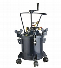 manual hand mixing pressure pot 10L /2.64 gallon with stainless steel inner