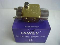 SAWEY brand A100 mini auto spray gun for plastic machine, nozzle dia 0.5/