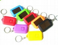 3 led plastic solar light with keychain for promotion