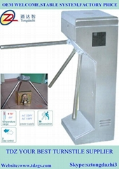 Security automatic tripod turnstile with door access control system