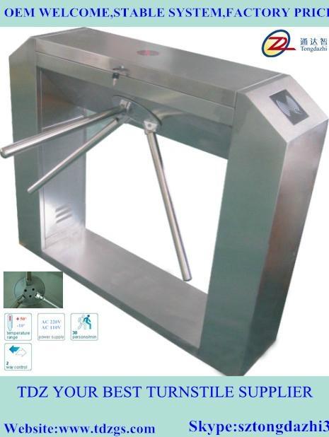 Bridge automatic tripod turnstile for ESD test 1