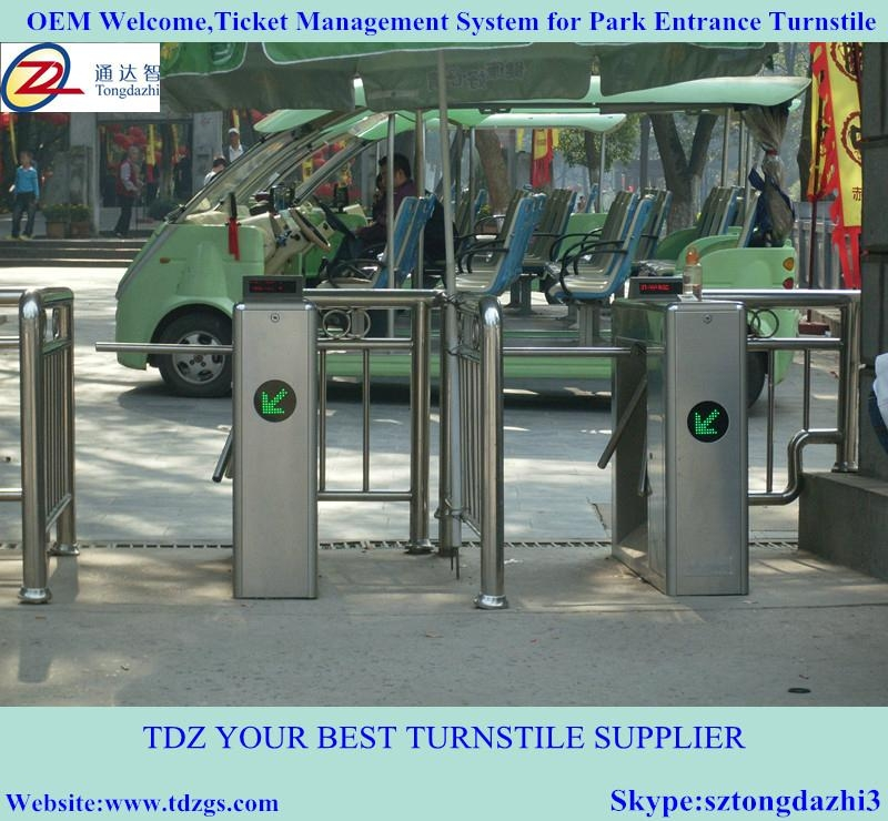 Semi-automatic tripod turnstile for ticket management sys 1
