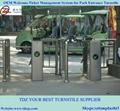 Semi-automatic tripod turnstile for