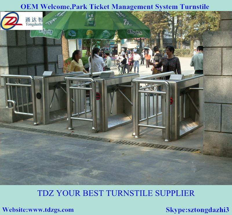 Semi-automatic tripod turnstile for ticket management sys 3
