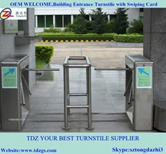Smart tripod turnstile for enterprise entrance