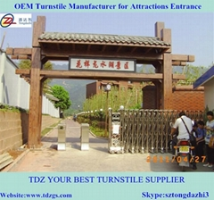 Electrical tripod turnstile for automatic system