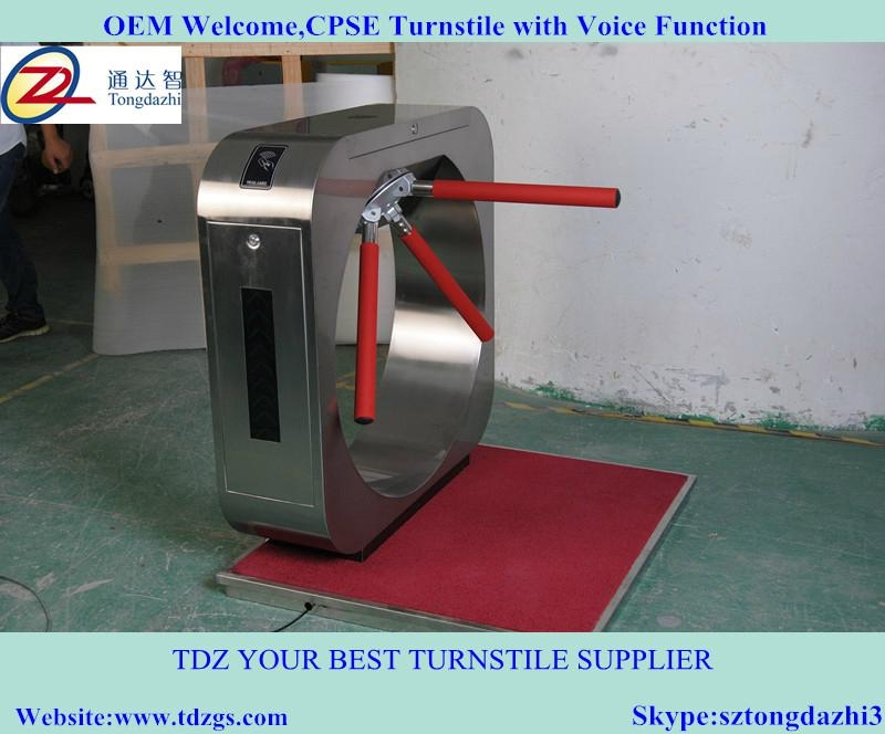 Special design access control turnstile for CPSE exhibition 1