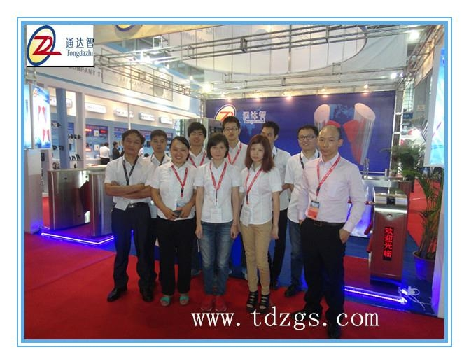 Special design access control turnstile for CPSE exhibition 2