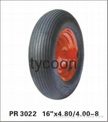 pneumatic wheelbarrow tire trolley wheel 4.80/4.00-8