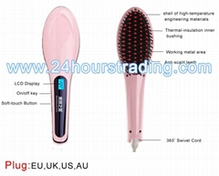 Nasv Beauty Star Electric hair straightening Brush Hair Straightener Comb