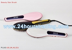 Beautiful Beauty Star Brush NASV Hair Straightener Brush Tool Dryer Comb Black